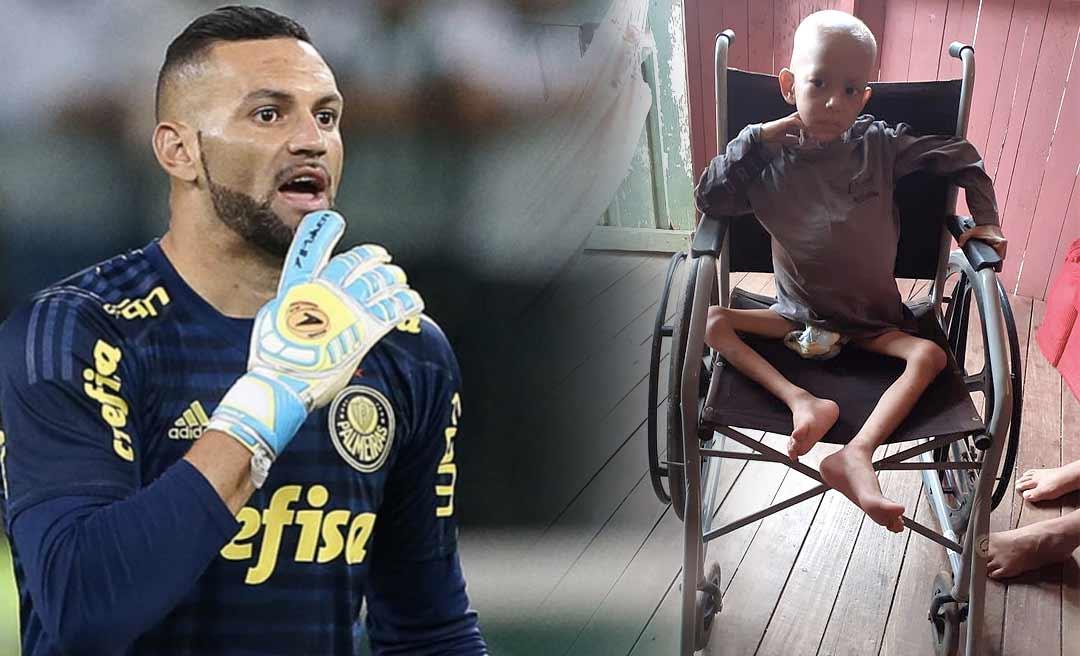 Goleiro da Seleção Brasileira se solidariza com o caso do pequeno Antônio Felipe e se dispõe a ajudar