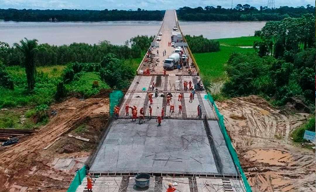 Obras da ponte do Madeira entram na reta final; Bolsonaro deve inaugurar este mês
